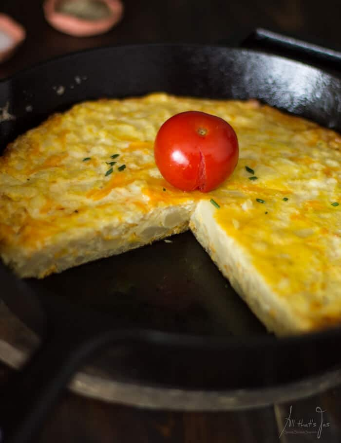 easy cauliflower fritatta - All that's Jas