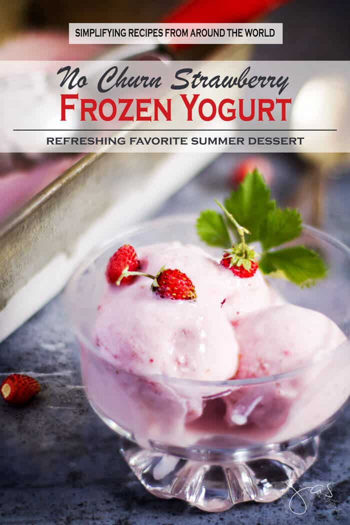 Strawberry Frozen Yogurt - How to Make No-Churn Frozen Yogurt | All that's Jas