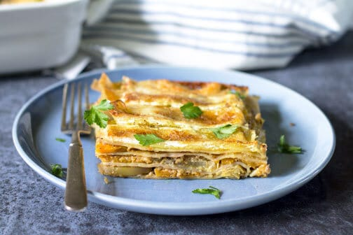 Apple and Butternut Squash Autumn Lasagna | All that's Jas