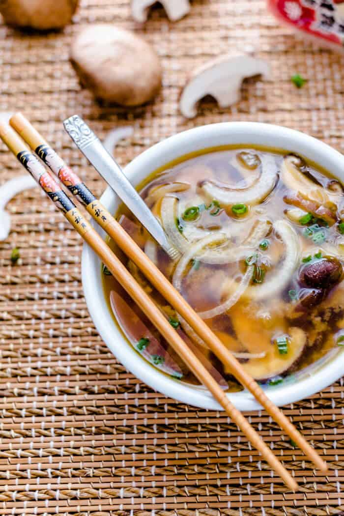 Japanese Onion Soup With Mushrooms All That S Jas