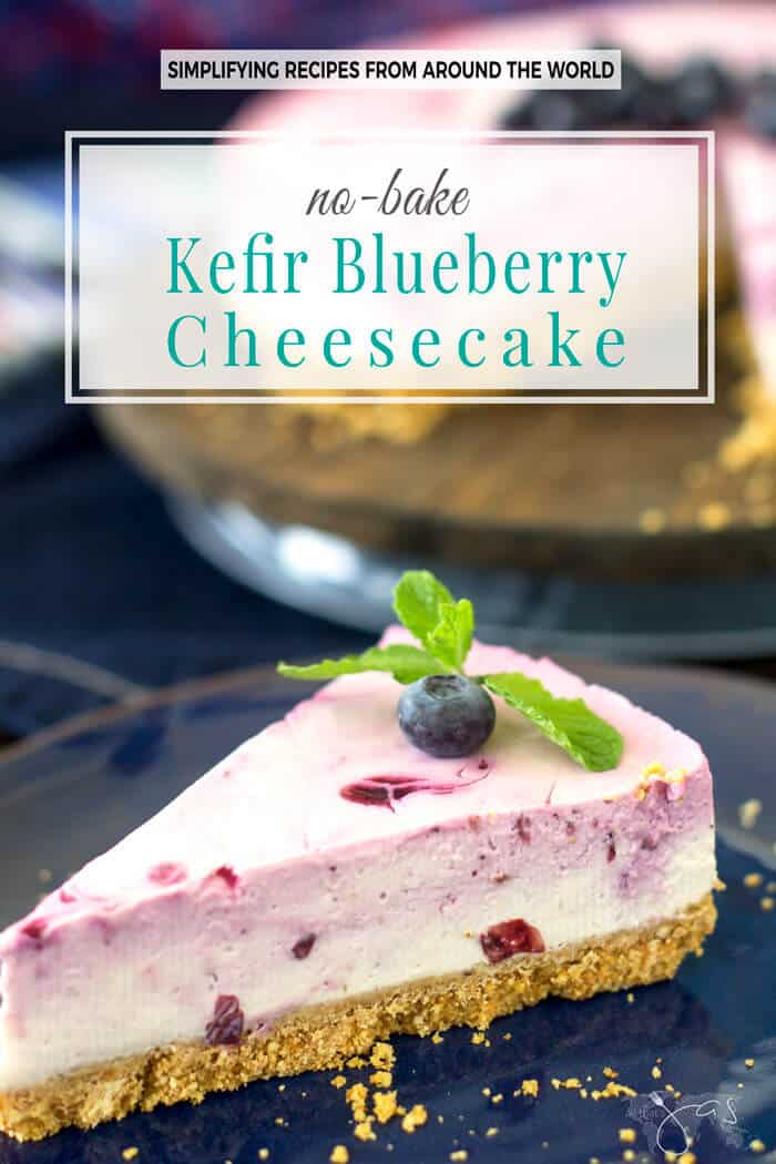 This no-bake kefir blueberry cheesecake is just what you need because it's a breeze to make, gluten-free, it has no added refined sugar, and it is packed with live probiotics.