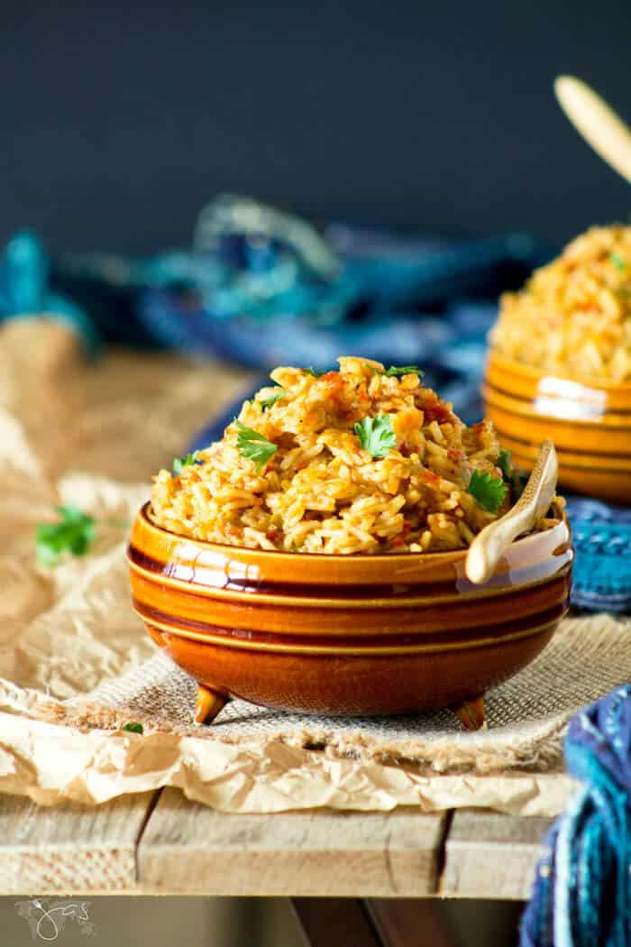 Delicious Nigerian side dish - jollof rice