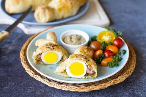 Puff Pastry Eggs with Ham and Cheese   All that's Jas