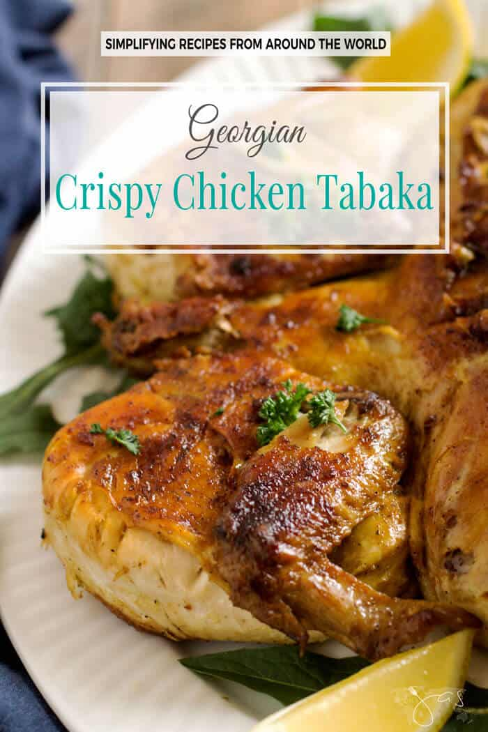 This finger-licking-good chicken tabaka is a Georgian national dish that yields juicy meat and a crispy skin. It is pan-fried whole, using a press down method.