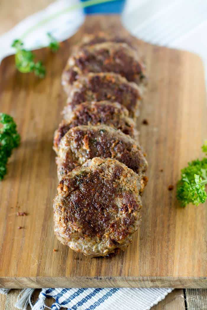 low carb beef rissoles with feta