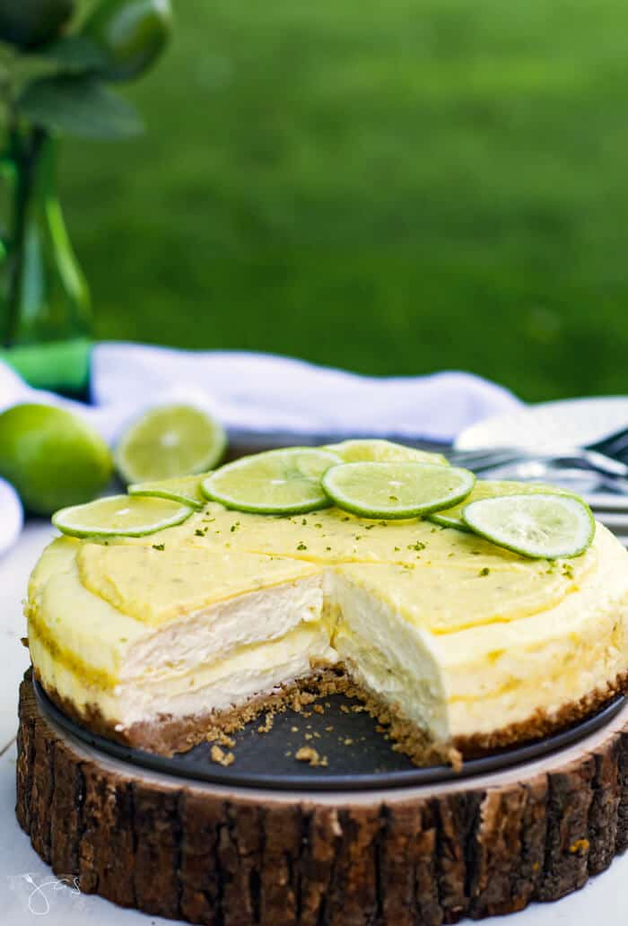 Recipe for decadent key lime cheesecake