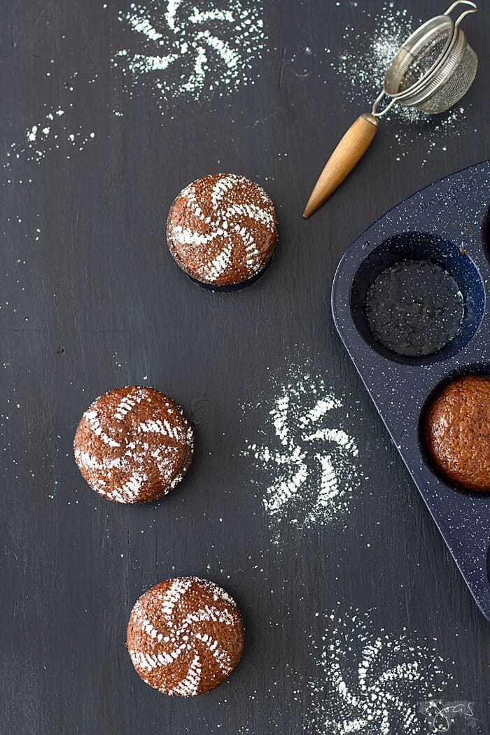 Malva pudding as mini cakes - a South African sticky dessert