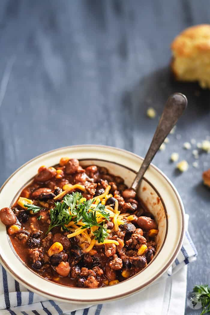 Two-Bean Chili Con Carne | allthatsjas.com