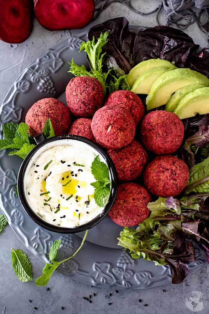 Delicious recipe for Baked Red Beet Falafel