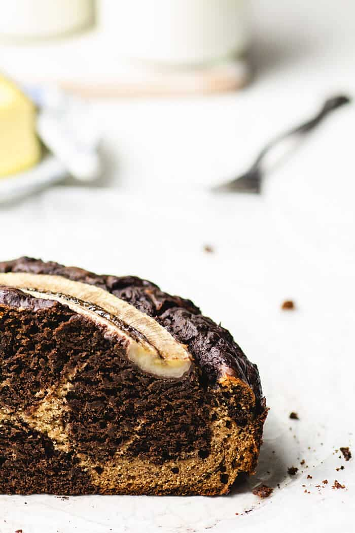 Delicious recipe for chocolate banana bread to use up overripe bananas.