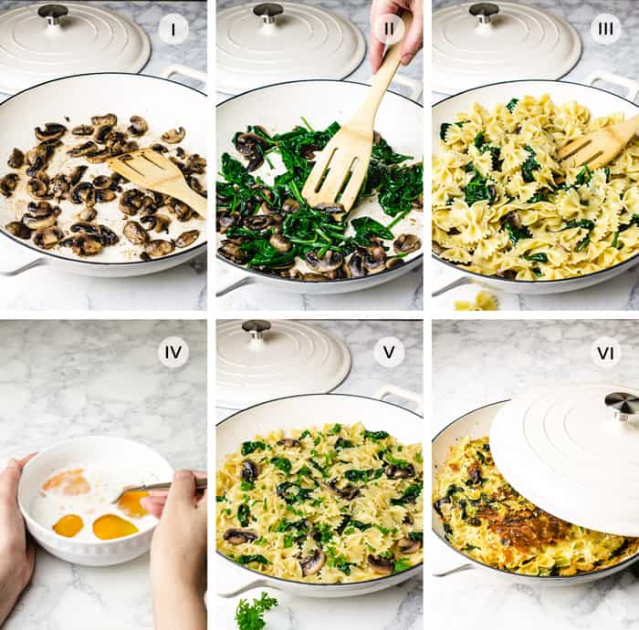 Step by step recipe for making Spanish frittata with pasta.