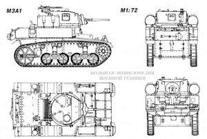 Общий вид легкого танка Light Tank M3/M5 General Stuart