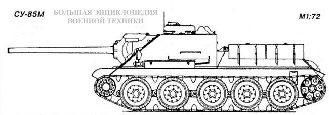 Вид сбоку самоходной установки СУ-85М