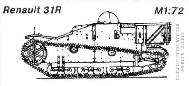 Вид сбоку танкетки 31R (UE, UE2)