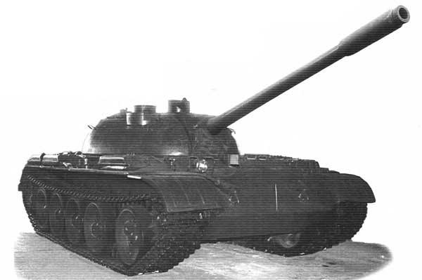 Опытный танк Т-55 с телевизионной аппаратурой «Алмаз»