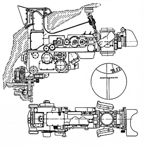 Перископический прицел Т2С-29-14 танка Т-10М