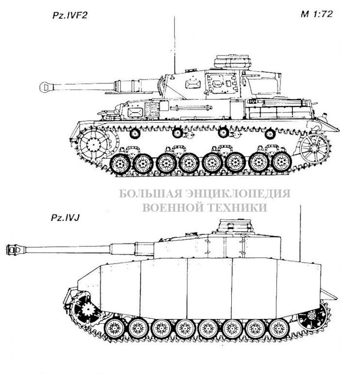 Танки Panzer IVF2 и Panzer IVJ (Sd.Kfz.161)