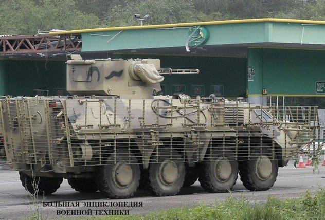 БТР-4Е с боевым модулем БМ-7 «Парус»