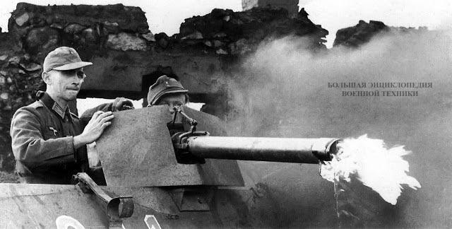 Огнеметание из бортового огнемета машины Sd. Kfz 251/16. Огнемет и установка - позднего варианта
