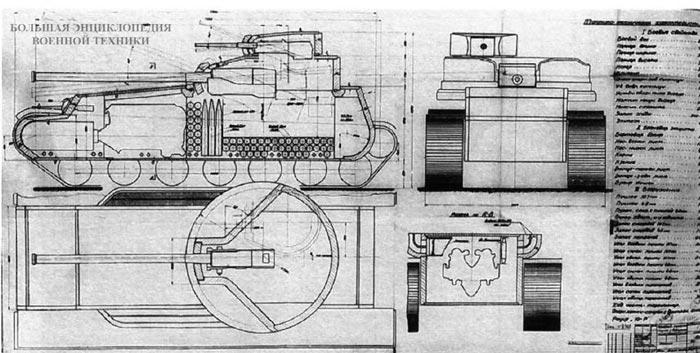 Проект танка КВ-4 инженера К. Буганова