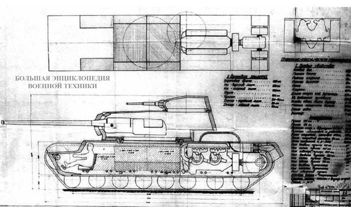 Проект танка КВ-4 инженера Н. Стукова
