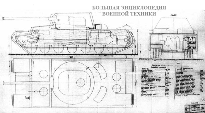 Проект танка КВ-4 инженера П. Михайлова