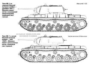 Танки КВ-1 с литой и сварной башнями