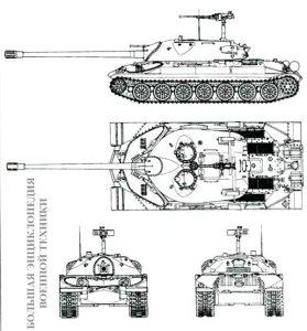 внешний вид эталонного танка ИС-7.