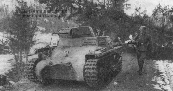 Легкий танк Pz. 1 Ausf. A из состава 3-й роты 40-го танкового батальона специального назначения (3. Kompanie/Panzer-Abteilung z.b.V 40). Норвегия, апрель 1940 года. Эта воинская часть была сформирована на базе 35-го танкового полка 4-й танковой дивизии Вермахта и предназначались для операций по захвату Дании и Норвегии.