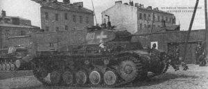 Немецкий легкий танк Pz. II Ausf.A на улицах Варшавы. Сентябрь 1939 года