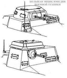 Отличия в конструкции линейного и командирского танков