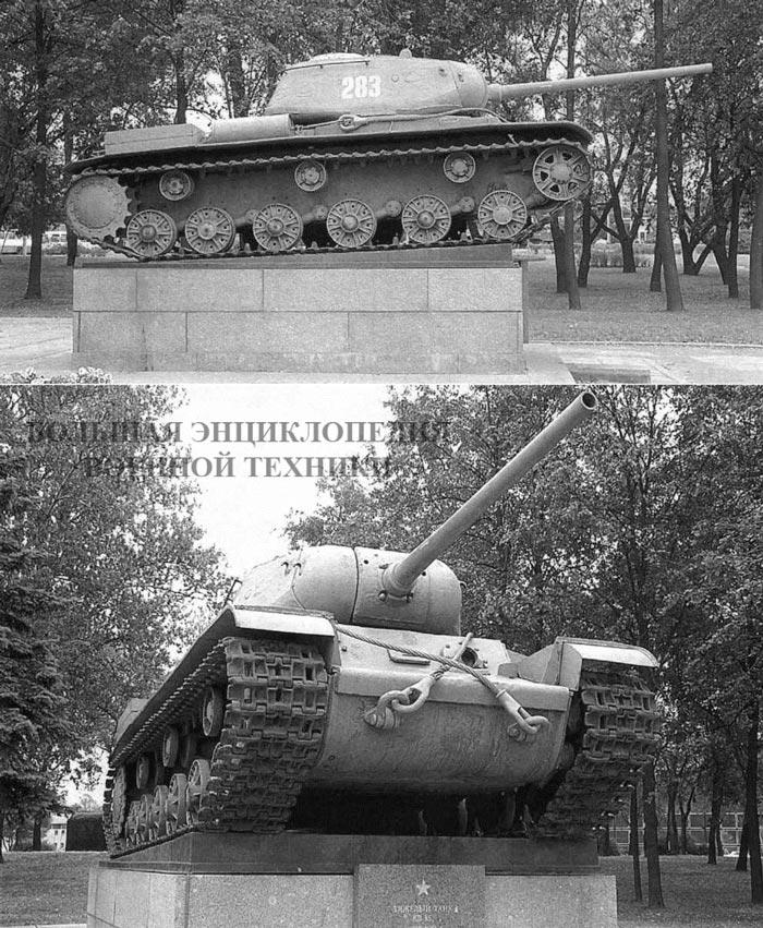 Первый-экземпляр-танка-КВ-85-установленный-в-качестве-памятника-в-Автово-Санкт-Петербург