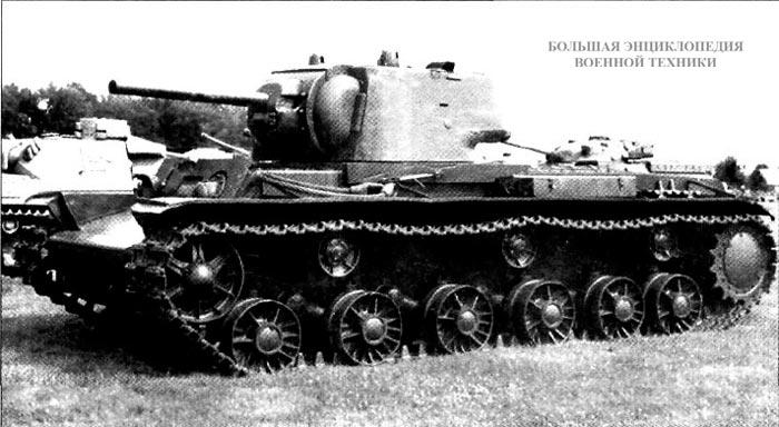 Танк КВ-1 с литой башней
