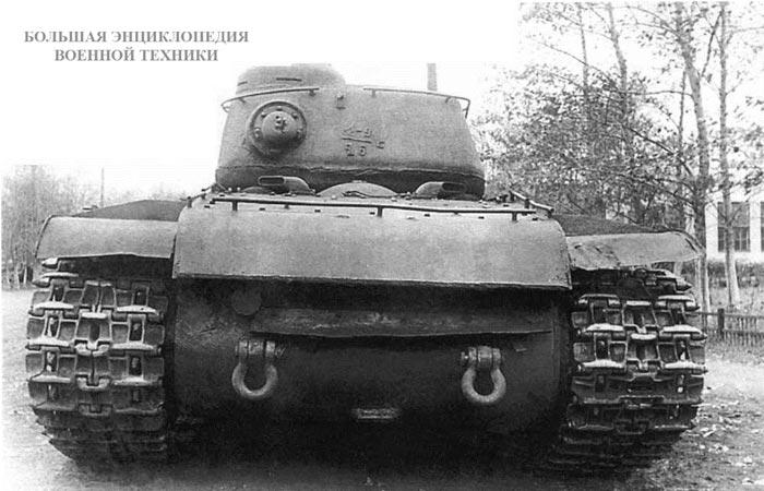 Танк КВ-1C с установленной на нем башней от танка ИС-122