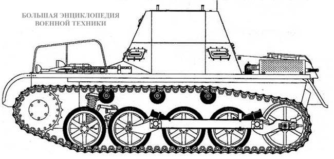 Чертеж танка Ki.Pz.Bf Wg. mi. а
