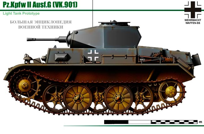 Танк Pz.II Ausf.G