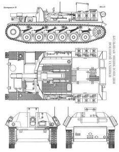 Чертеж САУ Sturmpanzer II