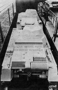Pz.l Ausf.B, вид сзади — сверху