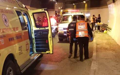 רוכב אופנוע נהרג בתאונה במנהרת הצנחנים בירושלים