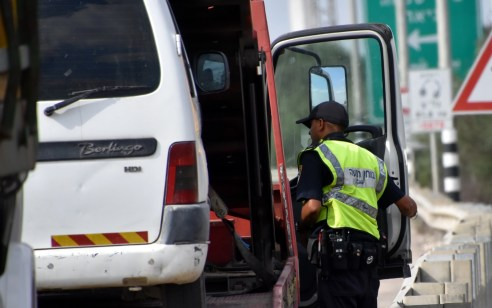 """פעילות אכיפה ממוקדת של שוטרי אגף התנועה הביאה לרישום של כ-6,200 דו""""חות תנועה"""