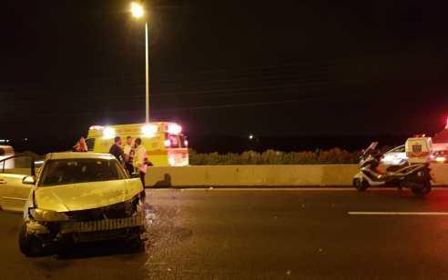 5 פצועים בהם 3 במצב בינוני בתאונה בכביש 1