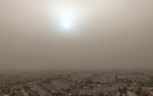 המשרד להגנת הסביבה: זיהום אוויר גבוה מאוד ישרור באזור הערבה ואילת עד הצהריים בשל חזית אובך