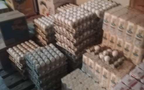 """בפעילות אכיפה בחנות בכפר מוקייבלה נתפסו 78 תבניות שהכילו  סה""""כ 2,340 ביצים שאינן ראויות למאכל אדם"""