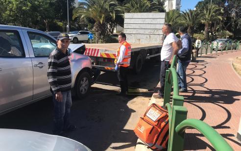 נהג רכב נפצע בינוני בתאונה עם משאית באשקלון