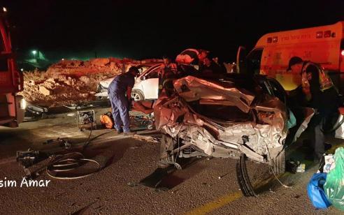 פצוע בינוני וארבעה קל בתאונה בכביש 25