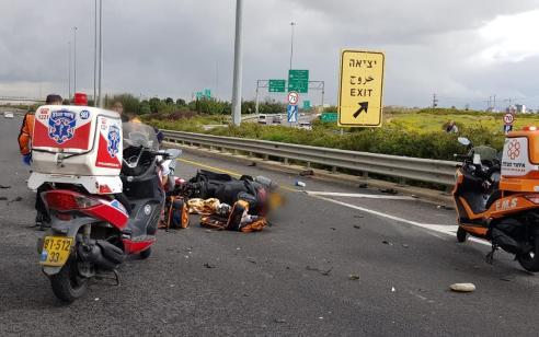 רוכב קטנוע נפצע בינוני ונהג רכב נפצע קל עד בינוני בתאונה בכביש 431