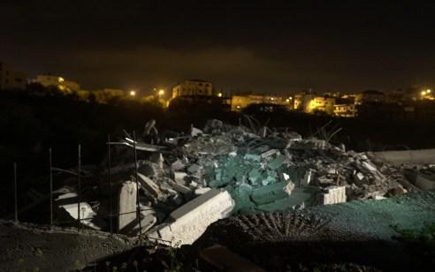 צפו: כוחותינו הרסו הלילה את בית המחבל שביצע את הפיגוע בגבעת אסף