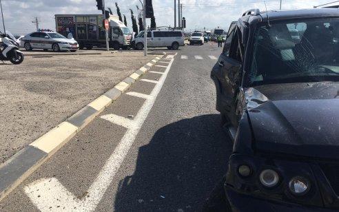 8 פצועים בתאונת דרכים בכביש 85 במעורבות שלושה כלי רכב