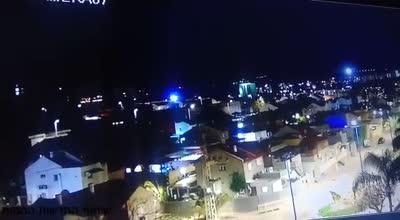 תיעוד היירוטים אמש בשדרות ממצלמות אבטחה