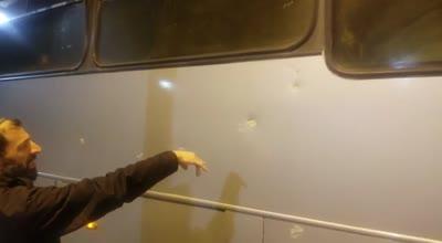 אוטובוס נרגם באבנים סמוך לחלחול – השמשה נופצה, אין נפגעים